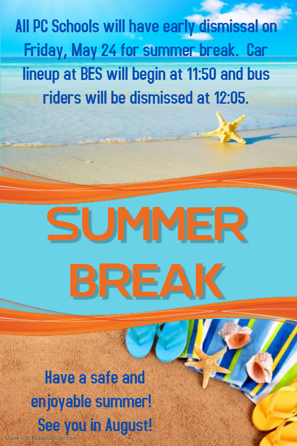 summer break and early release times