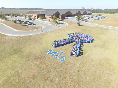 aerial picture of Midway Elementary