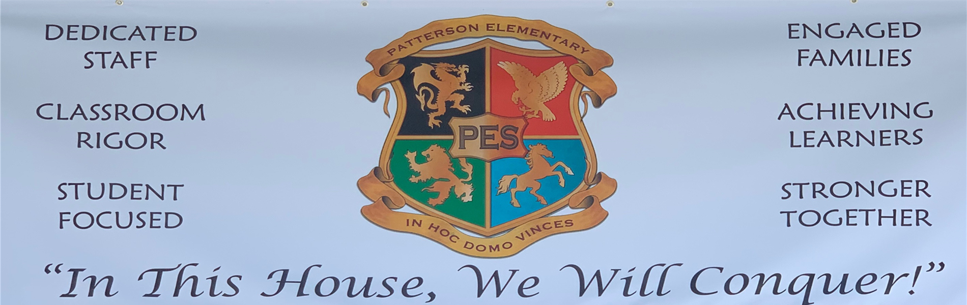 Patterson Elementary House Banner