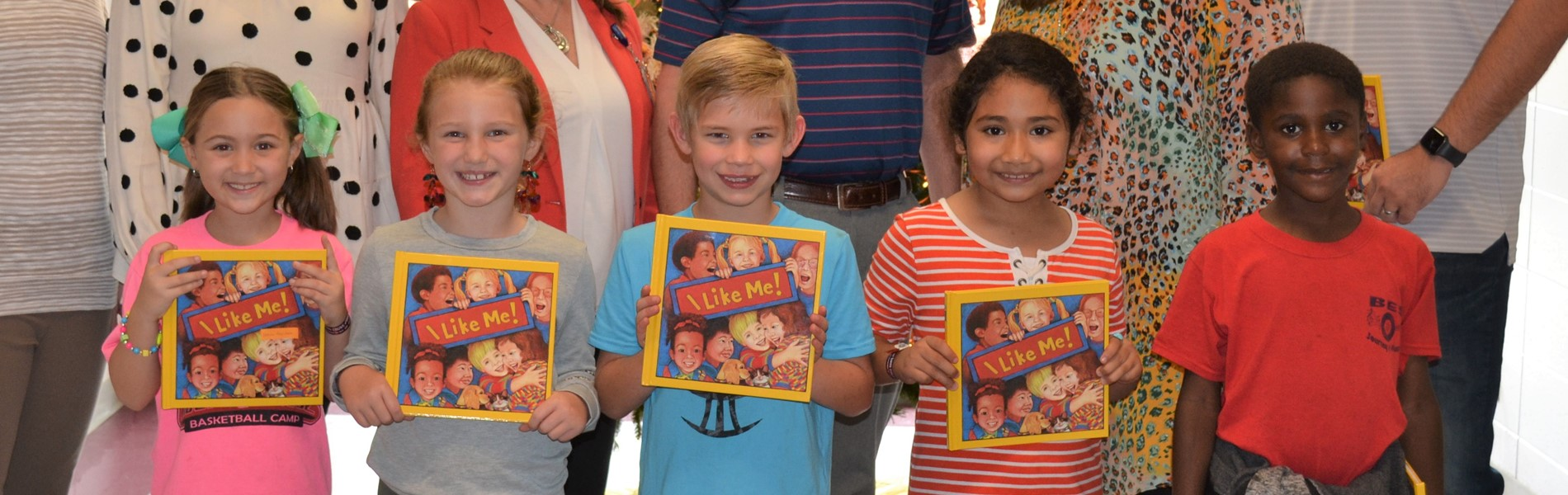 Students receive books