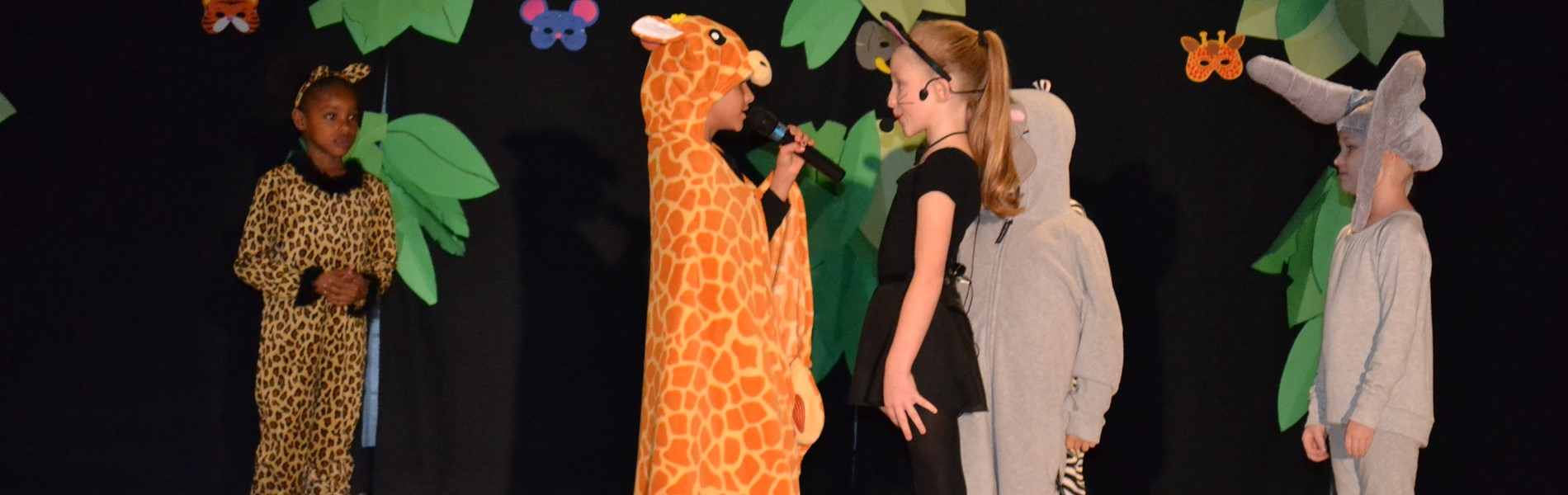 Blackshear Elementary students performing drama
